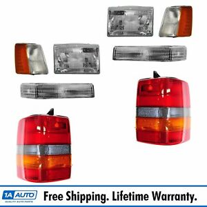 Headlights Parking Corner Lights Taillights Set Kit For 97 98 Grand Cherokee