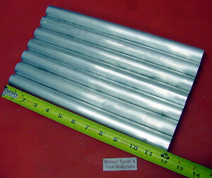 7 Pieces 1 Aluminum 6061 Round Rod 12 Long Solid T651 Extruded Lathe Bar Stock