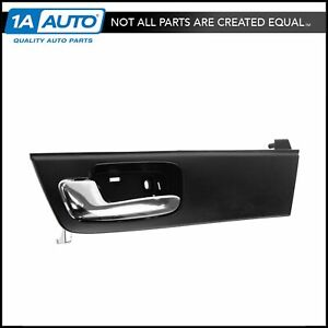 Door Handle Front Inner Black Chrome Driver Side Left For 06 11 Cadillac Dts