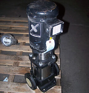 Grunfos 2 Hp Stainless Steel Vertical Centrifugal Pump 1 1 2 Id 9 1 2x8 1 2x25