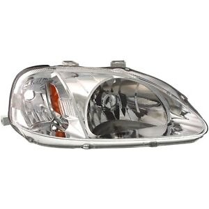 Headlight For 99 2000 Honda Civic 99 Civic Value Package Right