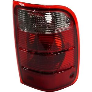 Halogen Tail Light For 2001 2005 Ford Ranger Right Clear Red Lens