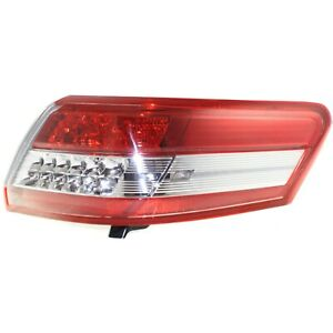 Halogen Tail Light For 2010 2011 Toyota Camry Right Outer Clear Red Lens W Bulbs