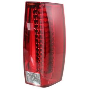 Tail Light For 2007 2013 Cadillac Escalade Escalade Esv Right Red Clear Lens