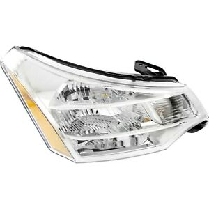 Headlight For 2008 2009 2010 2011 Ford Focus Right Chrome Housing With Bulb