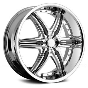 22 X 9 0 Inch Vct Mobster Chrome Black Wheel Rims Fit Mustang Impala Cts Dts