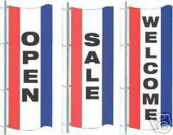 Open sale welcome 3ftx8ft Vertical Banners Flags Signs Choose One