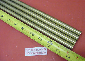 4 Pieces 5 8 C360 Brass Solid Round Rod 14 Long New Lathe Bar Stock 625