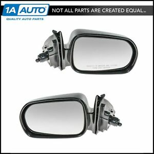 Manual Remote Side Mirrors Pair Set Left Lh Right Rh For 98 02 Accord 4 Door