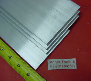 4 Pieces 1 4 x 4 Aluminum 6061 Flat Bar 6 Long T6511 Plate Extruded Mill Stock