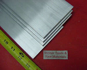 4 Pieces 1 4 X 6 Aluminum 6061 Flat Bar 13 Long T6511 250 Plate Mill Stock