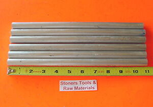 6 Pieces 5 8 Aluminum 6061 Round Rod 11 Long Solid T6511 Lathe Bar Stock