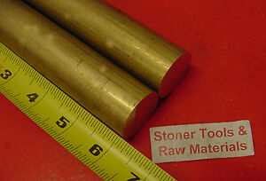 2 Pieces 1 1 8 C360 Brass Solid Round Rod 6 Long 1 125 H02 Lathe Bar Stock