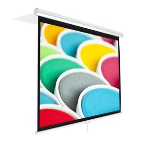 New Prjsm9406 84 Roll Pull Down Manual Projection Screen 50 3 x67 3 White