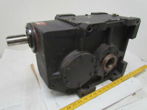 302 1 Ratio 5 8rpm Large Combo Worm Spur Gear Box Speed Reducer Iron Case 132lb