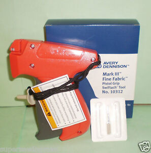 Avery Dennison Fine Clothing Tagging Tagger Tag Gun Model 10312 Gun Only