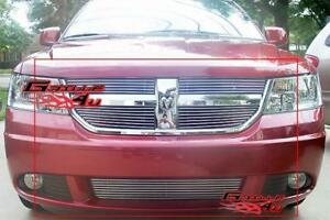 Fits 09 10 Dodge Journey Se Sxt R T Billet Grille Combo
