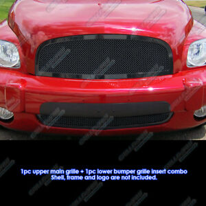 Custom Fits 2006 2011 Chevy Hhr Black Stainless Steel Mesh Grill Combo