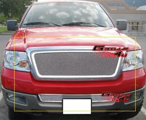 Custom Fits 04 05 Ford F 150 Stainless Mesh Grill Combo