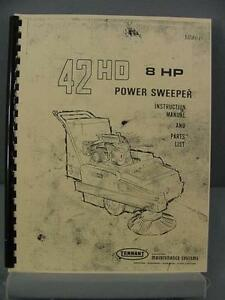 Tennant 42hd Power Sweeper Instruction Parts Manual
