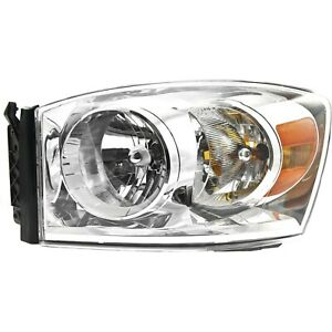 Headlight For 2007 2009 Dodge Ram 1500 Ram 2500 Driver Side W Bulb