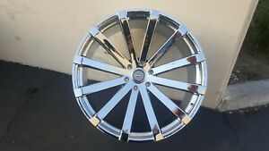 28 Inch Velocity V12 Chrome Wheels Tires Fit 6 X 139 Escalade Tahoe Sierra