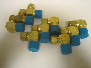 9 Swagelok Brass Elbow Fittings