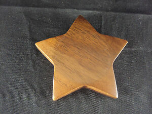 Paper Weight Woodessen Walnut Solid Wood Star Shape Gift Box Free Ship