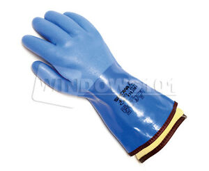 1 Pair Atlas Showa 495 Cold Oil Resistant Work Gloves W Removable Warm Liner