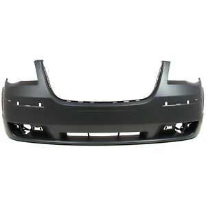 Bumper Cover For 2008 2010 Chrysler Town Country With Molding Holes Front Capa