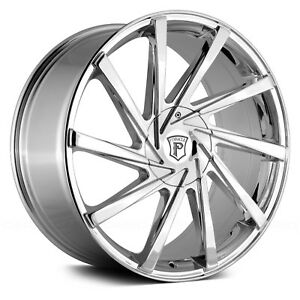 18 Inch Pinnacle Turbina Chrome Wheels Rims Tires Fit 5 X 114 3