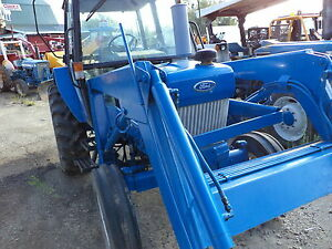 Ford 4630 Tractor Diesel With Loader Cab Heater Pto Three Point Hitch