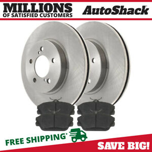 Front Metallic Brake Pads And Disc Rotors Complete Kit For Ford Lincoln Mercury