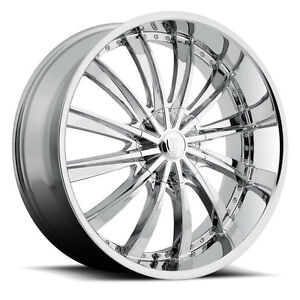 18 X 7 5 Inch Borghini B19 Chrome Wheels Rims Tires Fit 5 X 114 3 Civic