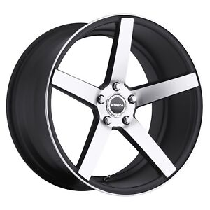 18 Inch Strada Perfetto Black M Wheel Rims Tires Fit 5 X 114 3 Great Deals