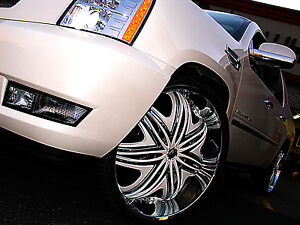 26 Inch Diablo Morpheus Wheels Rims Tires Fit 5 X 115 Escalade Tahoe Sierra