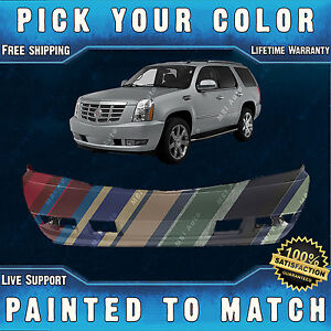 New Painted To Match Front Bumper Cover For 2007 2014 Cadillac Escalade Esv Ext