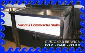 Various Commercial Sinks 1 2 3 Compartments New pre Owned