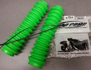 New Pair Of Neon Green Pro Comp Part 12115mud Shock Absorber Boots Bellows