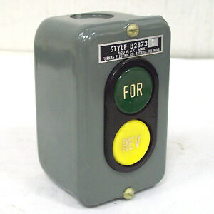 Furnas Electric 2 Button Forward Reverse Push Button Station B2873c