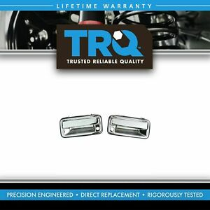Chrome Outer Exterior Outside Door Handle Pair Set For 95 01 Chevy Gmc C k Truck
