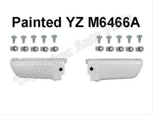 Painted Oxford White Yz m6466a Rear Bumper Ends W o Hole Clips 6pcfor 08 16 F250