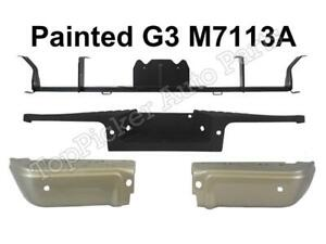 Painted Pueblo Gold Rear Bumper Ends W hole Black Pad 4pc For 2008 10 F250 F350