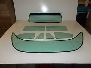 1953 1954 Chevy Bel Air Coupe Windshield Vent Door Quarter Rear Back Glass Green