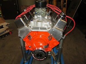 327 Sbc E85 Engine Complete Carb To Pan 500hp Nostagia Rat Rod