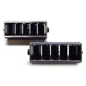 1968 78 Camaro Nova Chevelle Dash Vent Center Outlets Black W Chrome Pair