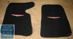1964 65 Pontiac Gto Embroidered Black Carpeted Floor Mats