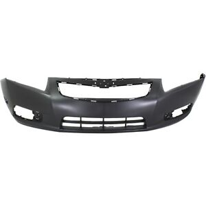 Front Bumper Cover For 2011 2014 Chevy Cruze W Fog Lamp Holes Primed
