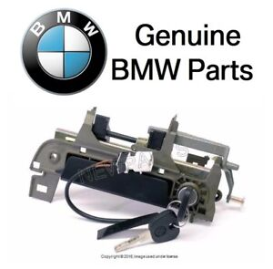 For Bmw E36 Outside Door Handle Assembly W Key Front Driver Door Genuine New