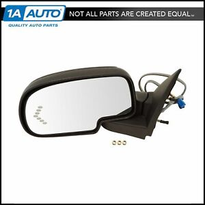 Side View Mirror Power Heated Signal Smooth Cap Driver Left Lh For Gm Truck